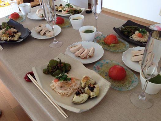 デトックスサロンフローイング 京都北野40代女性へ骨格矯正&リンパマッサージで流れる体へ-お料理教室終了しました